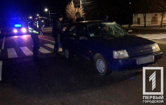 В Кривом Роге легковушка сбила подростка на неосвещённом участке дороги