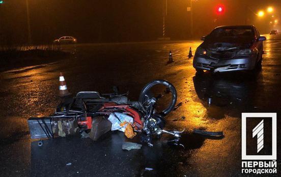 В Кривом Роге погиб мотоциклист после лобового столкновения с легковушкой